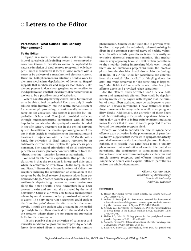 Paresthesia: What Causes This Sensory Phenomenon?   Regional