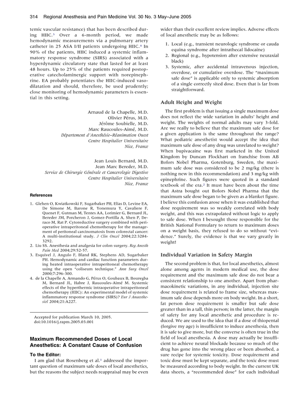 bb47627d51a Maximum Recommended Doses of Local Anesthetics  A Constant Cause of ...