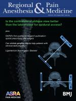 Regional Anesthesia & Pain Medicine
