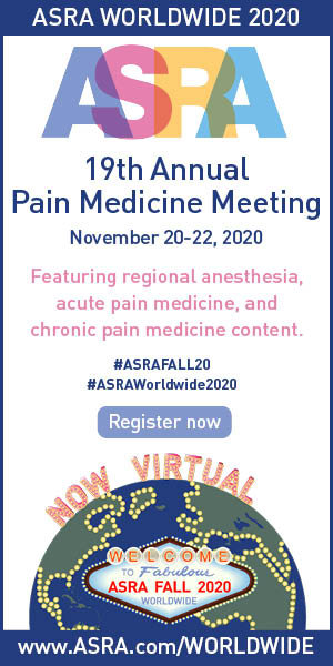 Ad for ASRA 19th Annual Pain Medicine Meeting