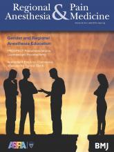 Regional Anesthesia & Pain Medicine: 44 (4)