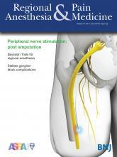 Regional Anesthesia & Pain Medicine: 44 (6)