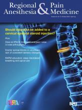 Regional Anesthesia & Pain Medicine: 45 (10)