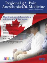 Regional Anesthesia & Pain Medicine: 45 (12)