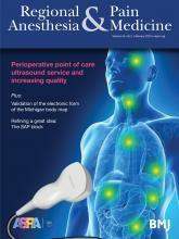Regional Anesthesia & Pain Medicine: 45 (2)