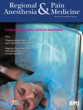 Regional Anesthesia & Pain Medicine: 45 (4)