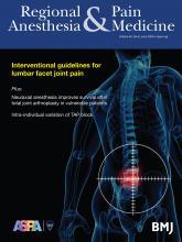 Regional Anesthesia & Pain Medicine: 45 (6)
