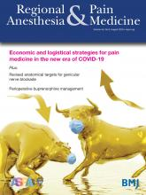Regional Anesthesia & Pain Medicine: 45 (8)