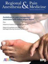 Regional Anesthesia & Pain Medicine: 45 (9)