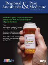 Regional Anesthesia & Pain Medicine: 46 (2)
