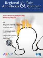 Regional Anesthesia & Pain Medicine: 46 (5)