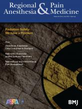 Regional Anesthesia & Pain Medicine: 46 (6)